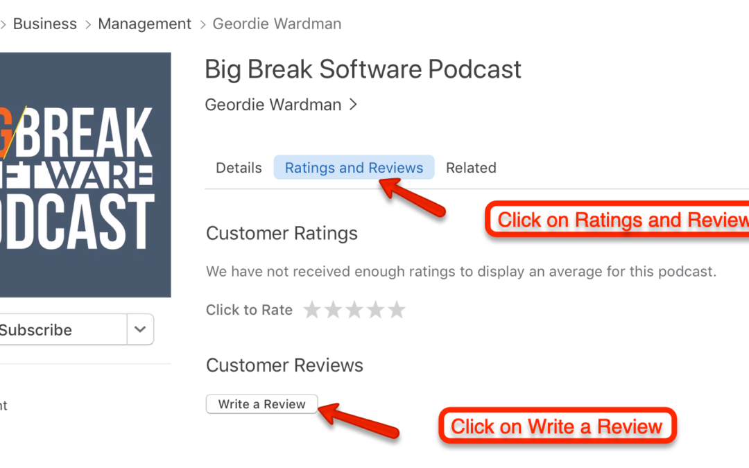 How to leave a review on a podcast